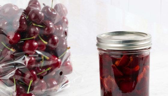 Preserving Uncooked Cherries